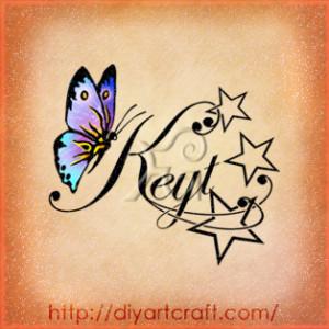 Nome femminile Keyt stelle e farfalla