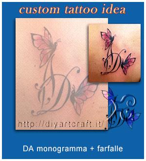 DA monogramma con farfalle