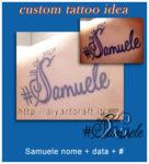 Samuele nome stilizzato con data e simbolo