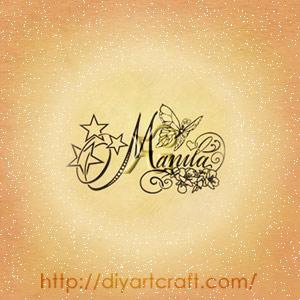 Nome femminile Manila stelle e farfalla