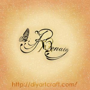 Nome femminile Renata con farfalla