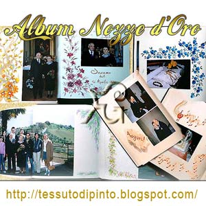 Pittura su album Nozze Oro collage