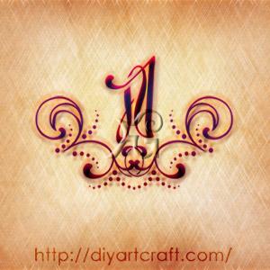 Numero 1 stilizzato a colori tattoo