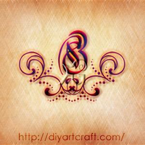 Numero 8 stilizzato a colori tattoo