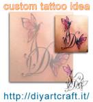 Custom tattoo idea: Monogramma DA con farfalla