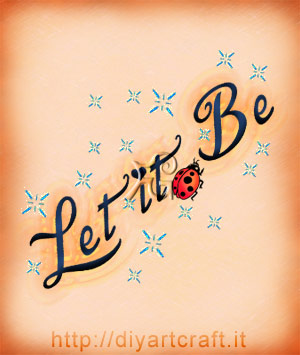 Let it Be frase inglese slogan