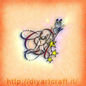 Stemma lettere CLAN farfalla e stelle