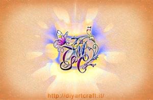 Stemma astratto CTMS lettere intrecciate fiori e farfalla