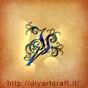 Logo stilizzato maschile lettere intrecciate IVS