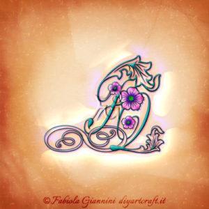 Stilizzazione grafica del simbolo infinito con lettere FQ e fiori