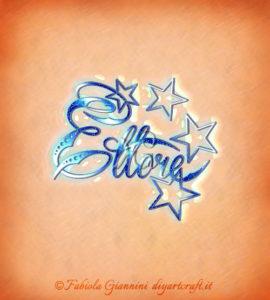 Disegno grafico con stelle: nome maschile Ettore