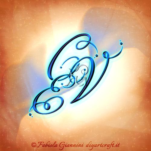 Trittico stemma di famiglia unisex: CVE lettere stilizzate