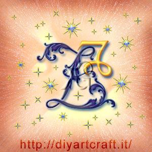 Segno zodiacale Capricorno insieme alla maiuscola Z tra le scintille