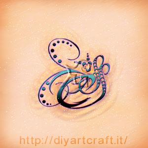 Stemma misterioso SCS curve sinuose e cuore stilizzato.