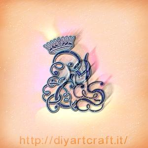 Intreccio di lettere YSC con corona simbolo grafico dello stemma misterioso.