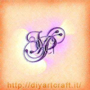 Logo unisex VP lettere corsive intrecciate.
