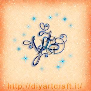 ZY lettere intrecciate stile logo disegnato con scintille.