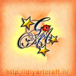 ACAG lettere intrecciate a coccinella e stelle simboli a colori.