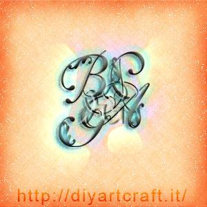 BGPA 4 maiuscole decorative stile corsivo.