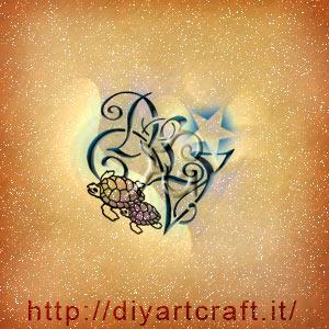 Tartarughe e stella nel logo VDL lettere in stile maschile.