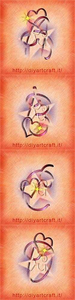 Poster A B C D Alfabeto Elettrizzante idea tattoo lettere unisex.