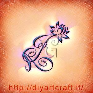 Acronimo AJ rebus per messaggi nascosti affascinanti con fiore di loto stilizzato.