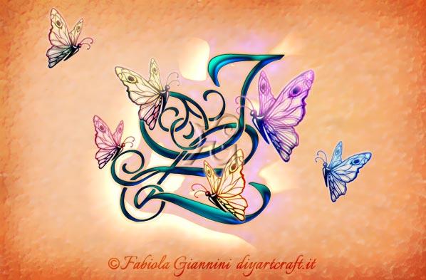 Splendide farfalle su 10 disegni stile calligrafico