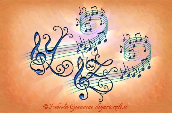 Alfabeto musicale 26 lettere chiave di violino