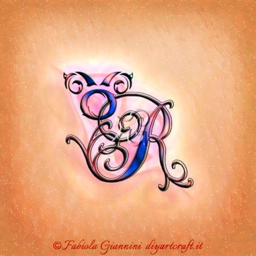 Simbolo grafico del segno zodiacale Toro in stile unisex sulla maiuscola corsiva R stilizzata con riccioli.