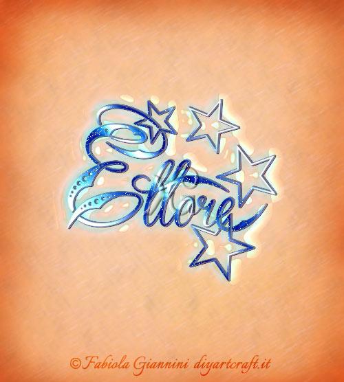 Ettore in un disegno grafico: nome per uomini tra le stelle.