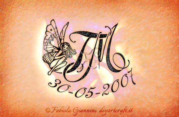 Metti i numeri memorabili sul monogramma